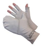 Glacier Glove Abaco Bay Grey Flip Mitt Sungloves