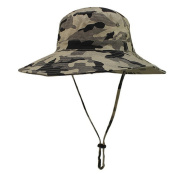 Eforstore Boonie Fishing Snap Brim Military Bucket Sun Hat with Drawstring for Men Hiking Fishing Outdoor Activities