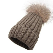 Kids Winter Cute Knitted Hat Warm Beanie Cap With With Pom Pom
