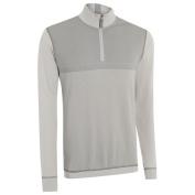 Ashworth 2015 Pima Stretch Birdseye Print Half Zip Thermal Sweater Mens Golf Pullover