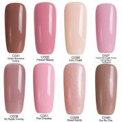Azure Beauty Gel Nail Polish Soak Off UV/LED Shiny Shellac Nail Polish Set 8 Pcs 12ml WSGP19