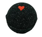 Black Bath Bomb w/Heart 170ml Aloe Vera Kaolin Clay scented w/ Little Black Dress