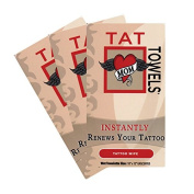 Tat Towels (NEW!) A Better Way to Moisturise and Enhance Your Tattoos 48 Individual Packs Per Order  .