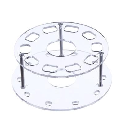 eBoot Oval Makeup Brush Holder 10 Holes Drying Rack Organiser Cosmetic Shelf Tool (Clear)