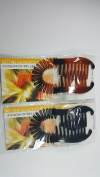 2 sets of Interlocking Banana Combs Hair Clip French Side Comb Holder 80's 90's Soft