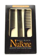 NuBone II Basic Black Exquisite Handcrafted Combs Professional SET
