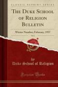 The Duke School of Religion Bulletin, Vol. 2