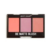 City Colour Cosmetics Be Matte Blush in Fresh Melon, Blackberry, and Guava - Cheek Trio
