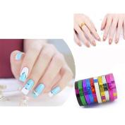 Alonea 10pcs Nail Rolls Striping Tape DIY 3D Nail Art Tips Decoration Stickers