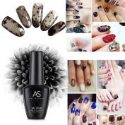 Alonea Silk Stockings Soak Off Gel UV Glue Nail Polish Phototherapy Manicure Black