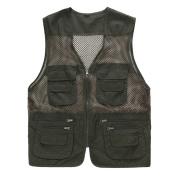 Men's Outdoor Multifunction Multi-pocket Mesh Fishing Photo Journalist's Vest