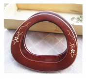 Ownstyle Carve Patterns Wood Purse Handle Purse Handles For Sewing 2 Pcs A Packs