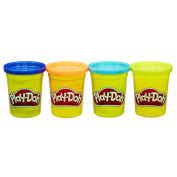 Play-Doh pack of 4 (470ml) colours Blue, Orange, Teal & Neon Yellow by Hasbro