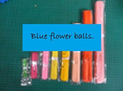 Blue Tissue Paper Flower Pom Pom Balls. 12 and 36cm Party Favour Flower Balls Hanging Decor Party Decoration. 8 Pack. Great DIY Kit For Parties,Birthdays,Weddings,Bridal Showers Etc.