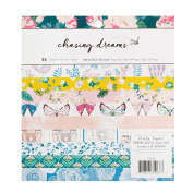 American Crafts 375968 Maggie Holmes Chasing Dreams Paper Pad 15cm X 15cm 36 Sheet Paper Pad