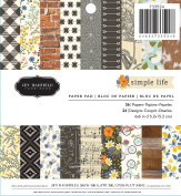 American Crafts 733524 Jen Hadfield Simple Life Paper Pad 15cm X 15cm 36 Sheet Paper Pad