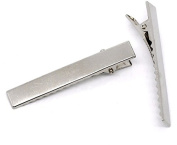 Silver Tone Prong Hair Alligator Clips