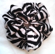 Zebra Velvet Hair Scrunchies-Large