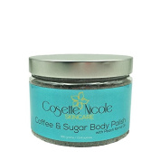 Coffee & Sugar Body Polish and Face Mask ~ ALL-NATURAL multi-benefit brown sugar body scrub, facial scrub and face mask ~ 400mls