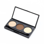 3 Colours Eyebrow Powder Eye Brow Palette Cosmetic Makeup Kit With Brush Mirror