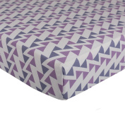 Lolli Living Zigzag Fitted Sheet, Purple