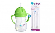b box Straw Cup Bottle 240ml + Refill Straw & Wash Brush Set
