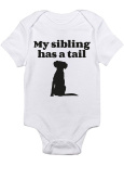 """T-Rex Apparel """"My Sibling Has A Tail"""" Dog"""