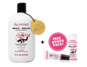 Pink Panther Premium Shower Gel & Bubble Bath - Two in One - For All Ages - Citrus Vanilla Pink Luxury Formula - Soak in Style .   Lip Gloss & Travel Bath Shot Pack!