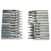 H88 22pcs Stainless Steel Tips Set for Tattoo Machine Needle Grip Tube