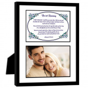2nd Anniversary Gift – Love Poem for Husband, Wife, Boyfriend or Girlfriend on Second Anniversary - Photo Mat in 20cm x 25cm Frame - Add Photo