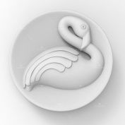 Grainrain Soap Moulds Silicone Craft Bird Flamingo Soap Making Mould DIY Candle Resin Mould