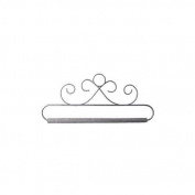 Ackfeld 88387 French Curls Grey Fabric Holder, 15cm - 1.3cm
