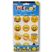 Emoji Large Fabric Tattoo Pack ~ Great For Clothing & Accessories ~ 15 / Package