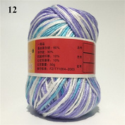 Soft Silk Fibre Cashmere Wool Yarns For Kids Eco-friendly Dyed Baby Yarn For Knitting 10 Balls 500g/lot Colour 12