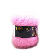 Hot Selling Mohair Yarn for Hand Knitting Wool Crochet Yarn to Knit Mink Wool Yarns Mohair Wool for Knitting : 13 Light Pink
