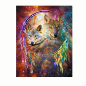 Diamond Painting Cross Stitch,Elevin(TM) 5D DIY Rhinestone Diamond Embroidery Painting Square Counted Paint By Number Kits Cross Stitch