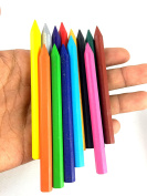 M'VIR Plastic Coloured Crayons Kids  stationery  pack of 12 with soft case free