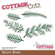 CottageCutz Die-Spruce Stems, 7.6cm x 3cm