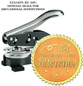 "Stamps By SPC // Custom Desktop Embosser (Seal) // ""You Make The Differnce""; Impression"