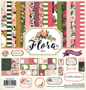 Carta Bella Paper Company CBFL62016 Collection Kit Flora #1 Collection Kit
