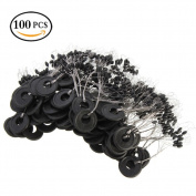 Tanchen 100Pcs/Pack 6 in 1 Cylinder Shaped Float Stop Fishing Rubber Stopper Bobber Sinker