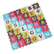 LUDI Foam Puzzle Pieces with Letters and Numbers