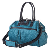 Trend Lab Waverly Baby Strands Stetson Lagoon Framed Nappy Bag, Teal, Black