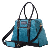 Trend Lab Waverly Baby Stetson Lagoon Carryall Nappy Bag, Teal, Black
