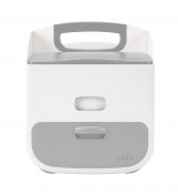 Ubbi Nappy Caddy and Wipes Dispenser Combo, Grey