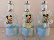 12 Mickey Mouse Fillable Champagne Bottles Baby Shower Boy Favours First Birthday