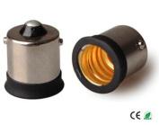 E-Simpo 12-pack BA15S to E12 Adapter,BA15S to E12 Lamp Base Converter,Copper, Z1091