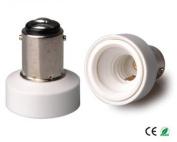 E-Simpo 10-pack BA15D to E12 Adapter,BA15D to E12 Lamp Base Converter,PBT, Z1088