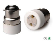 E-Simpo 6-pack B22 to MR16 Adapter,B22 to MR16 Lamp Base Converter,Ceramic, Z1087