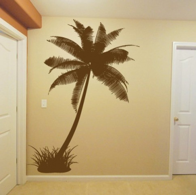 Wall Decal Sticker Bedroom Palm Tree Jungles Beach Island Room Decor 315b